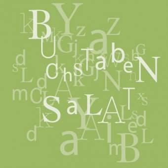 """Poesie et Table. Papierserviette. """"Buchstabensalat"""""""