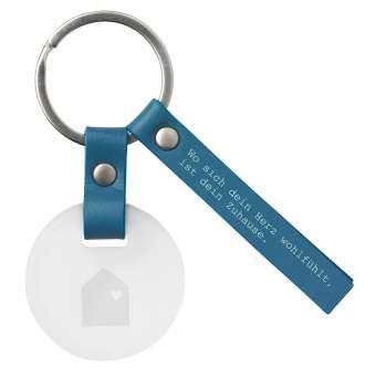 """Schlüsselanhänger """"Wo sich dein Herz..."""""""