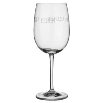 """Weinglas """"Leben lieben lachen lallen"""""""