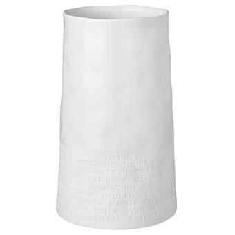 """breite Vase """"Text zu Blumen"""""""