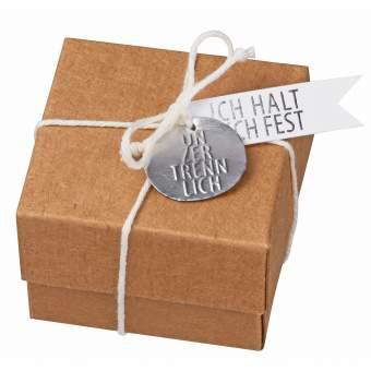 "Message in a box ""Halt Dich fest"""
