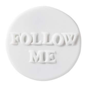 """Porzellanbutton """"Follow me"""""""