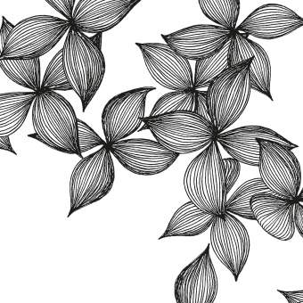 "Serviette ""Blüten"""