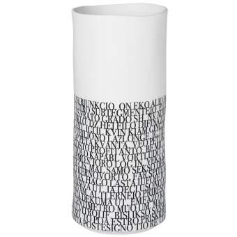 """kleine Vase """"Text"""""""