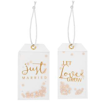 "Wolke Sieben Geschenkanhänger ""Just married/let love grow"""