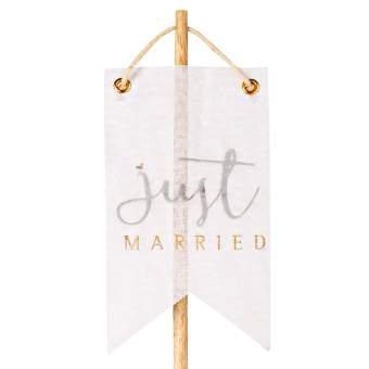 """Wolke Sieben Wimpelstecker """"Just married"""""""