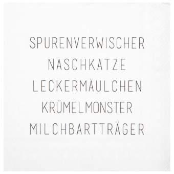 """Cocktailservietten """"Spurenverwischer"""""""