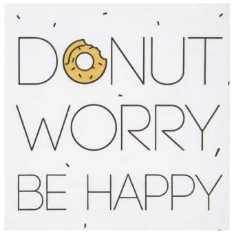 """Cocktailservietten """"Donut worry"""""""