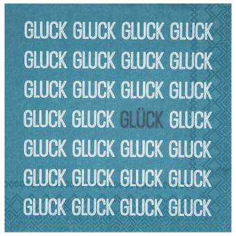 """Cocktailservietten """"Gluck Gluck Gluck"""""""