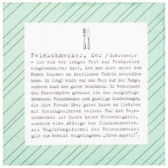 """Servietten """"Feinschmecker"""""""