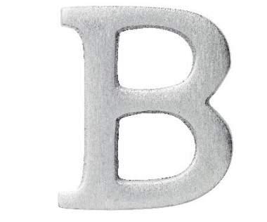 """Aluminium Buchstabe """"B"""""""