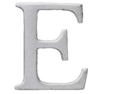 "Aluminium Buchstabe ""E"""