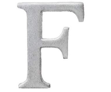 "Aluminium Buchstabe ""F"""