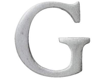 """Aluminium Buchstabe """"G"""""""