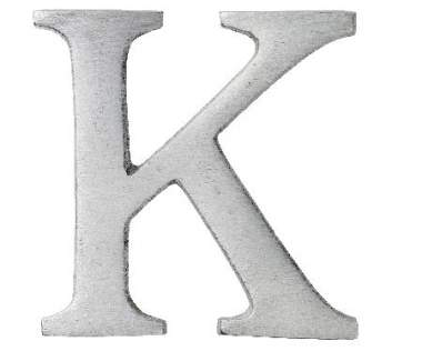 "Aluminium Buchstabe ""K"""