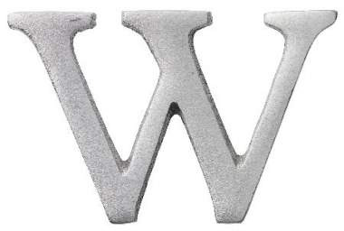 "Aluminium Buchstabe ""W"""