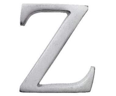 "Aluminium Buchstabe ""Z"""