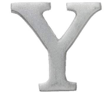 "Aluminium Buchstabe ""Y"""