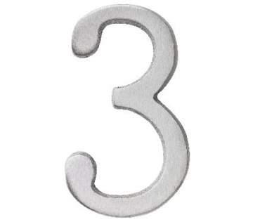 "Aluminium Zahl ""3"""