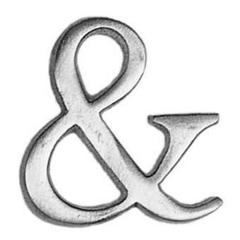 "Aluminium Zeichen ""&"""