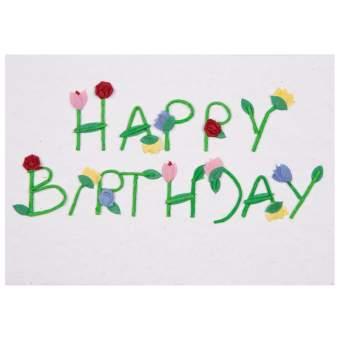 """Schrift Karte """"Happy Birthday"""""""