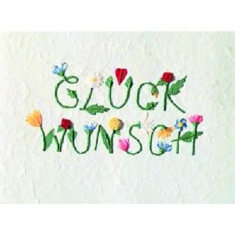 """Schrift Karte """"Glückwunsch"""""""