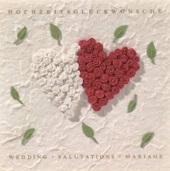 """Hochzeitsblüten Karte """"Hochzeitsglückwünsche"""""""