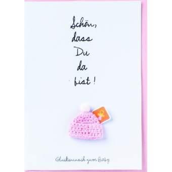 """Baby Welcome Card """"Schön, dass du da bist"""""""
