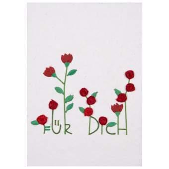 """Plissee Wunschkarte """"Für Dich"""""""