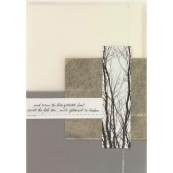 """Foto Zen Trauerkarte """"...und wenn du dich getröstet hast..."""""""