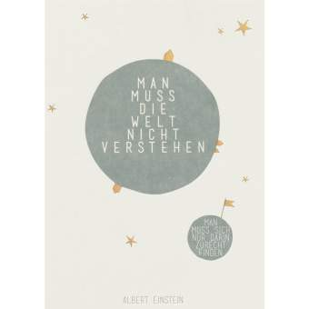 "Fanpostkarte ""Man muss die Welt..."""