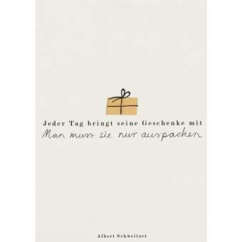 """Fanpostkarte """"Jeder Tag bringt seine Geschenke"""""""