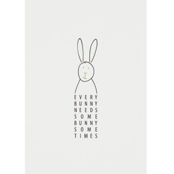 "Lieblingspostkarte ""Every Bunny needs..."""