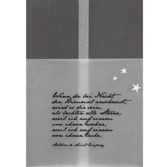 "Kondolenzkarte ""Wenn du bei Nacht"""