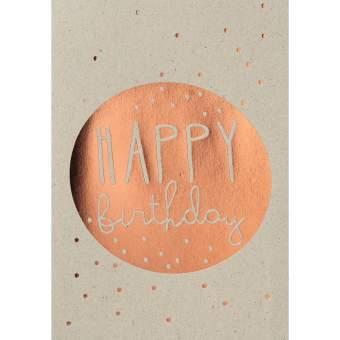 """Graupappen Geburtstagskarte """"Happy Birthday"""""""