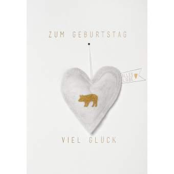 """Gazeanhänger Karte """"Zum Geburtstag viel Glück"""""""