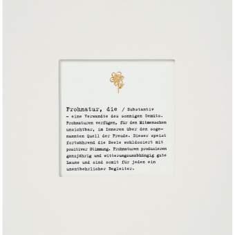 """Passepartout Karte """"Frohnatur"""""""