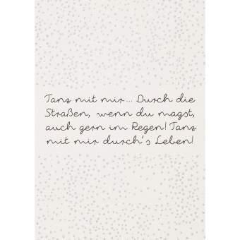 """Fanpostkarte """"Tanz mit mir..."""""""