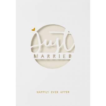 """Wolke Sieben Hochzeitskarte """"Just married"""""""