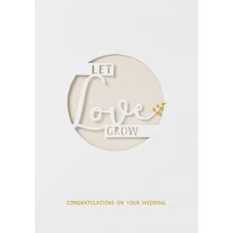 """Wolke Sieben Hochzeitskarte """"Let love grow"""""""