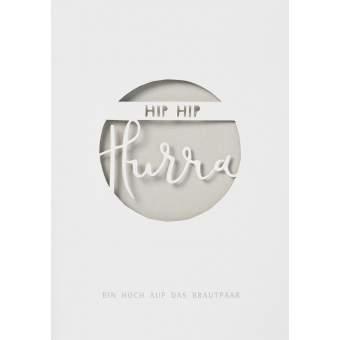 """Wolke Sieben Hochzeitskarte """"hip hip hurra"""""""