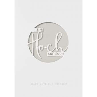"""Wolke Sieben Hochzeitskarte """"Ein Hoch auf Euch"""""""