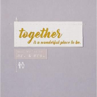 """Hochzeitskarte """"Together is a wonderful..."""""""