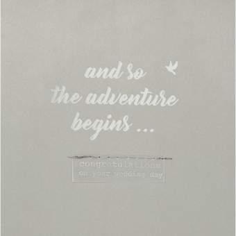 """Hochzeitskarte """"And so the adventure..."""""""