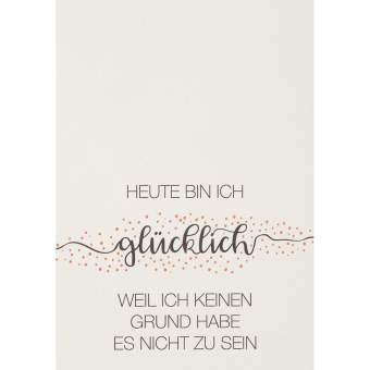 """Motivations Postkarte """"Heute bin ich glücklich"""""""