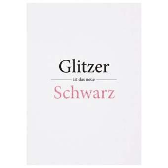 "Glitzer Postkarte ""Glitzer ist das neue..."""