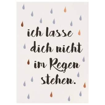 "Lieblingsmensch Postkarte ""Ich lassen Dich nicht..."""