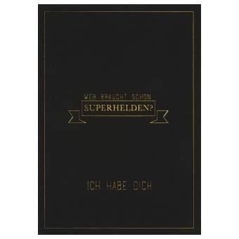 """Herren Postkarte """"Wer braucht schon..."""""""