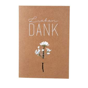 "Blumenkarte ""Lieben Dank"""