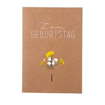 """Blumenkarte """"Zum Geburtstag"""""""